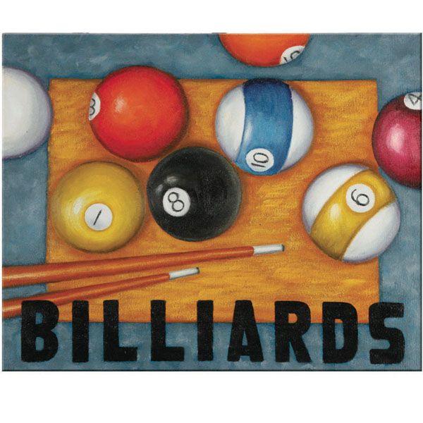 Great Billiards Wall Art