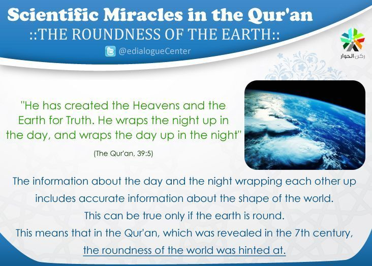 The roundness of the earth (Scientific Miracles in the Qur'an)