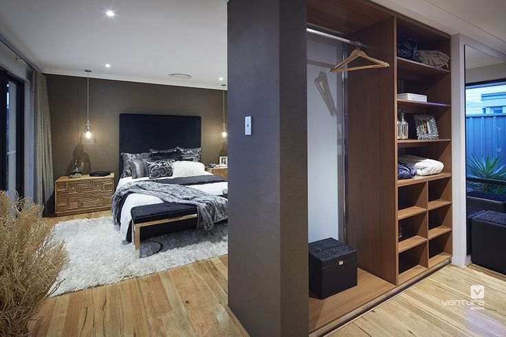 Master bedroom design in The Macquarie display home by #VenturaHomes #interiordesign