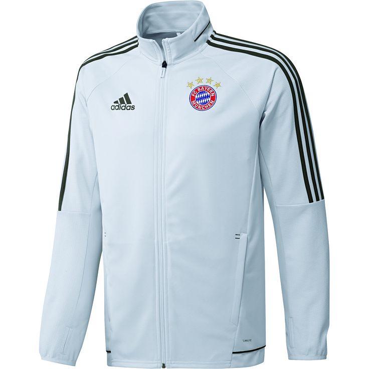 Die Adidas FC Bayern München Trainingsjacke CL 2017/2018 passend zum CL-Outfit der Bayern.