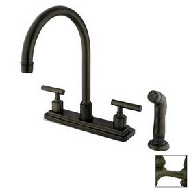 9 best new kitchen sink fauchets images on pinterest handle elements of design manhattan two handle kitchen faucet with non metallic sprayer oil rubbed bronze elements of design fandeluxe Images