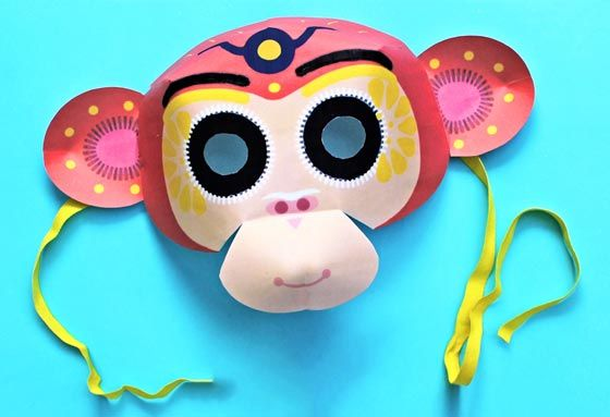 1000 ideas about monkey mask on pinterest masking mask for Sock monkey face template