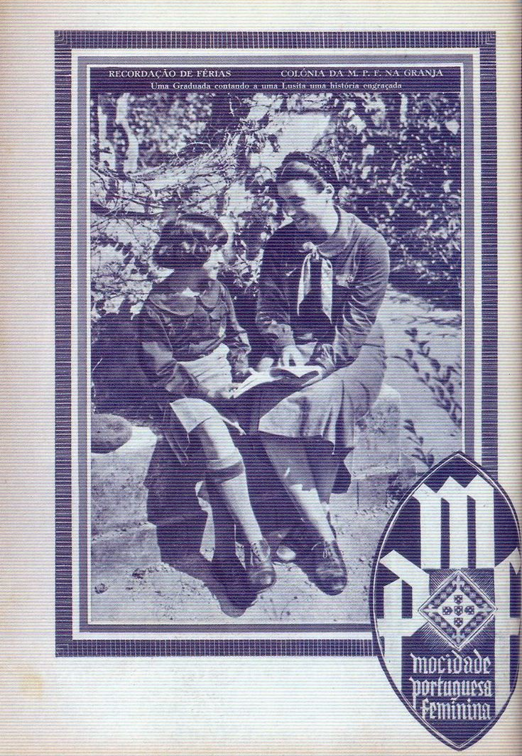 CLICK ON IMAGE GRID ABOVE TO SCROLL THROUGH IMAGES.  < BACK  The government published women's monthly magazines: Mocidade Portuguesa  Feminina andMenina e Moça. The covers convey a consistent image of  feminine roles compatible with the New State.  Additional Mocidade Portuguesa Feminina