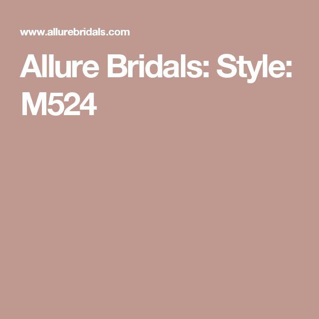 Allure Bridals: Style: M524