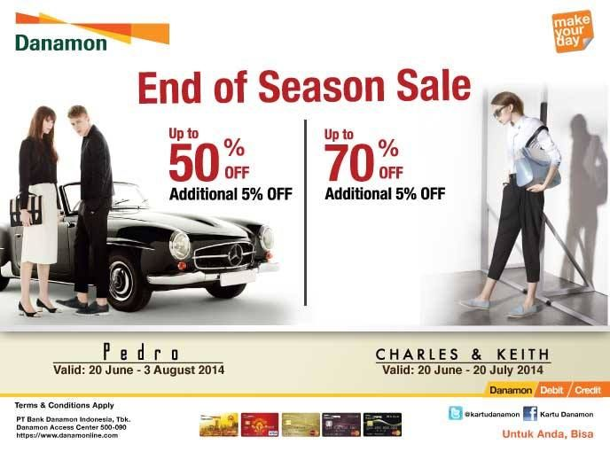 Pedro: End of Season Sale, Discount up to 5O% Off + Additional 5% Off (Danamon)