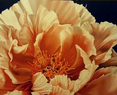 "Saatchi Art Artist Luigi Maria de Rubeis; Painting, ""Orange peony"" #art"
