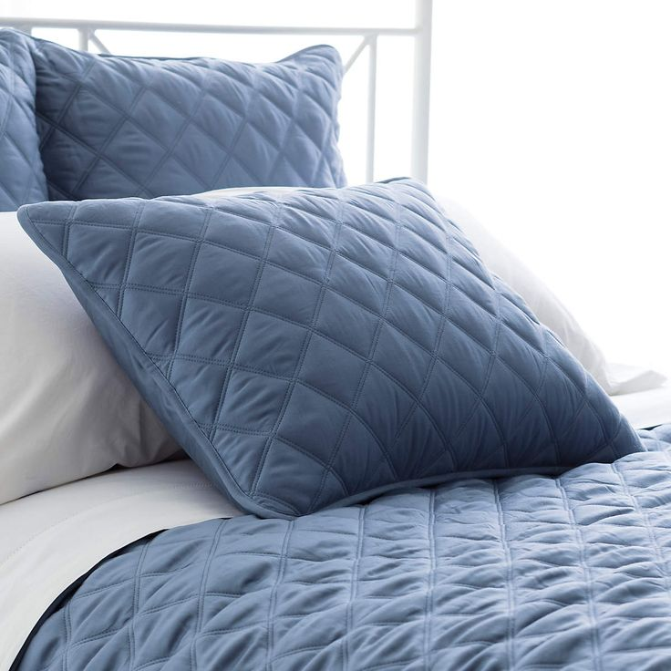 The quilted matte sheen of our Silken Solid shams are the perfect addition to your Silken Solid bed, or a fabulous texture addition to any style. So what is Tencel® exactly? You can sleep soundly knowing it is sustainably derived from renewable wood resources and processed in a 99% recyclable closed loop system. Pillow sham we could get in King for a King pillow and the diamonds match the curtain patterm!