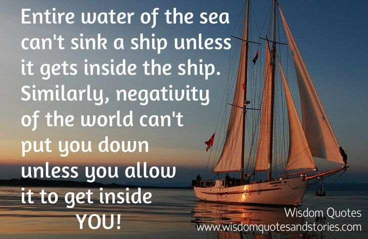 17 Best Images About Sailing Quotes On Pinterest: Entire Water Of The Sea Can't Sink A