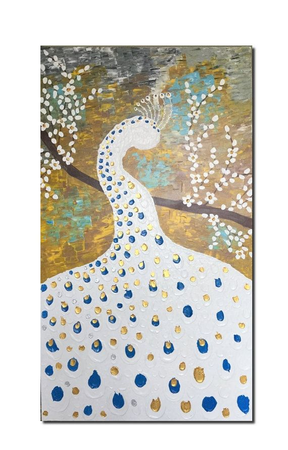 Wall decor Peacock Painting Large Painting by Art4mHeart on Etsy