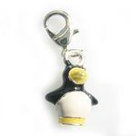 Silver penguin charm