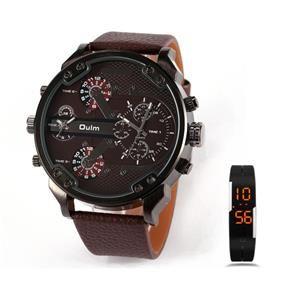Kit Relógio masculino analógico + Pulseira digital LED