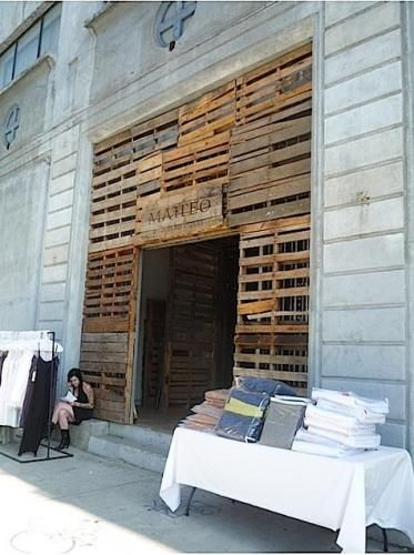 LOVE this line !!!! Love the use of pallets!!!!  Gallery Remodelista