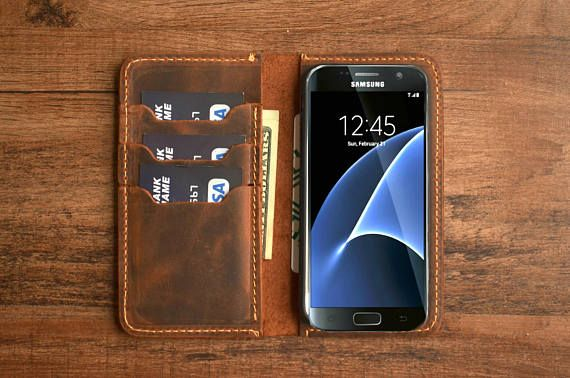 This listing is for a PERSONALIZED leather case for SAMSUNG SMARTPHONES We make this wallet for the following SAMSUNG devices: ✦ Samsung Galaxy S6 ✦ Samsung Galaxy S6 EDGE ✦ Samsung Galaxy S7 ✦ Samsung Galaxy S7 EDGE ✦ Samsung Galaxy S8 ✦ Samsung Galaxy S8 Plus ✦ Samsung Galaxy Note