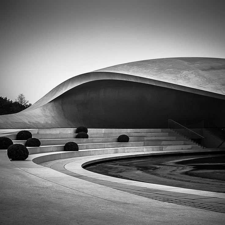 Niemeyer inspy for a skateboarding park that is part of the house ;)