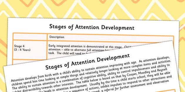 Stages Of Attention Development - attention, develop, SEN, prompt - twinkl