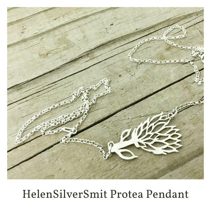 #HelenSilverSmit #Protea Sterling Silver pendant necklace