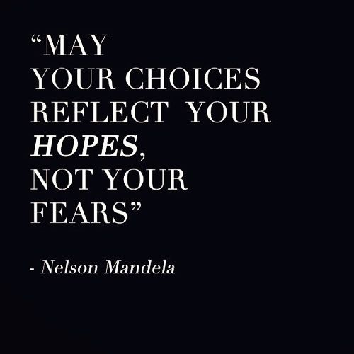 Dont make decisions based on fear. Root your decisions in faith and watch your life change!