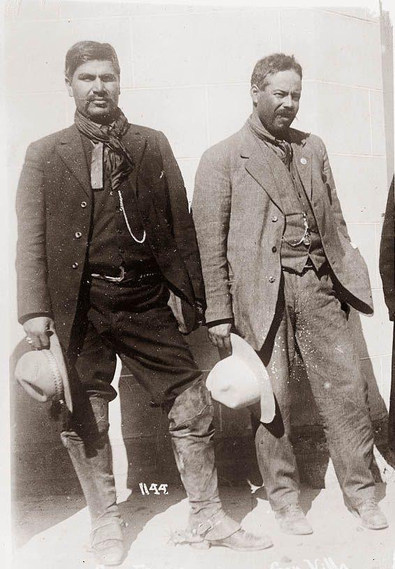 Pancho Villa y Rodolfo Fierro
