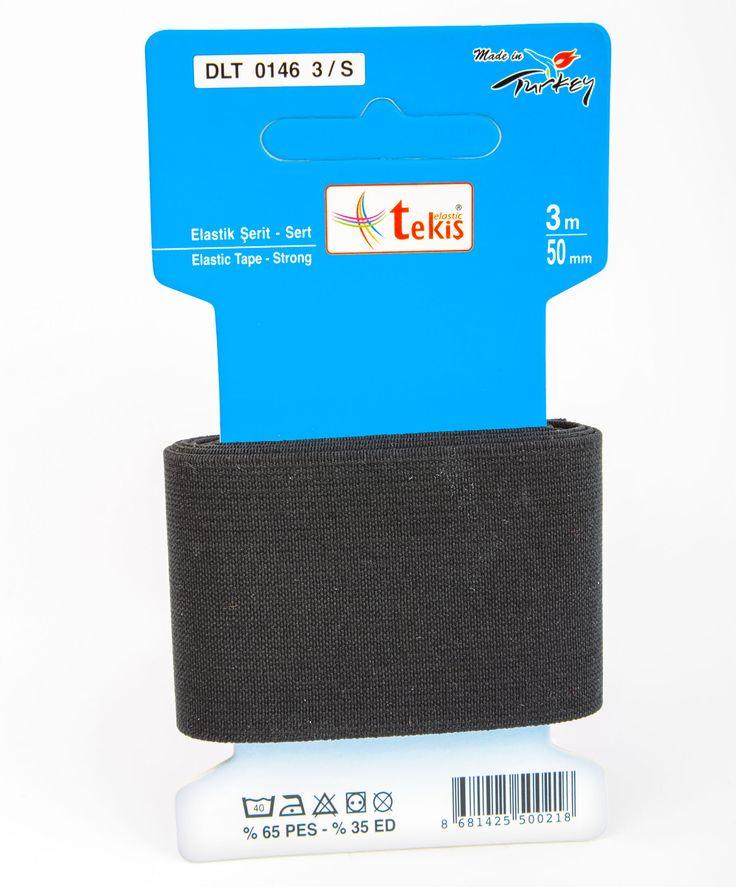 50 mm Elastic Tape / 3 m / Black