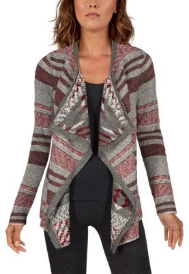 Natural Reflections Desert Sunset Long-Sleeve Cardigan for Ladies
