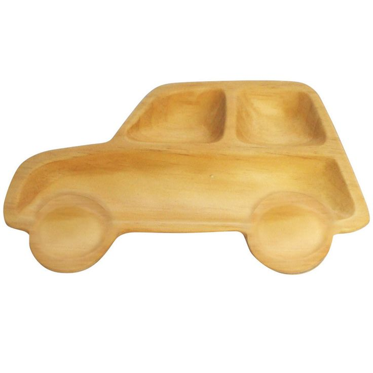 Car Sectioned Wooden Plate - Trendy Lil Treats