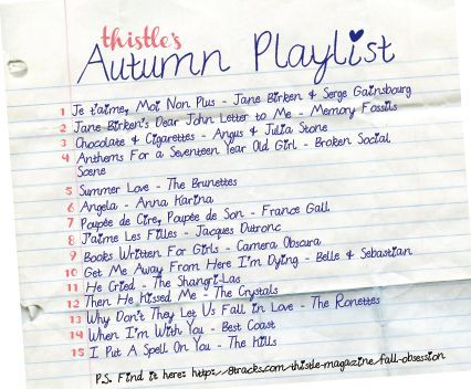 Have you listened to the autumn Obsession playlist?