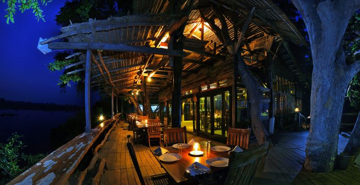 The Tree House Restaurant Fantastic view of the Machaan at Ken River Lodge, Panna.
