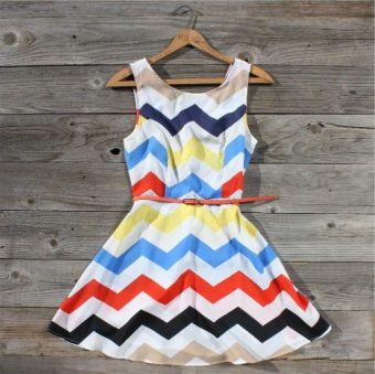 bright chevron summer dress.: Summer Dress, Fashion, Style, Dream Closet, Zig Zag Dress, Zag Falls, Falls Dress, Zigzag, Fall Dresses