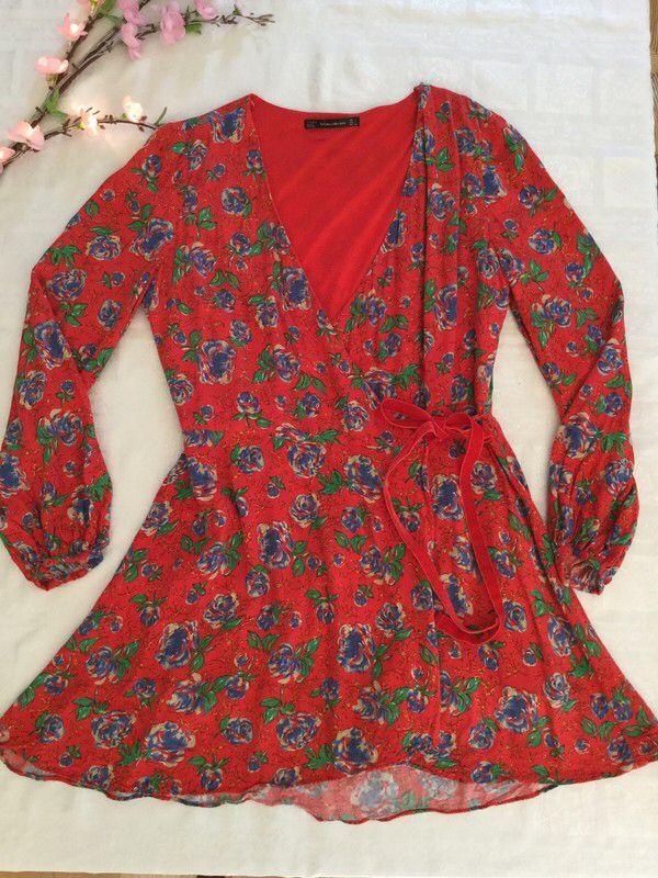 33bbf512 Zara red with floral skort playsuit | Pearlandiris | Long sleeve playsuit,  Playsuit dress, Skort