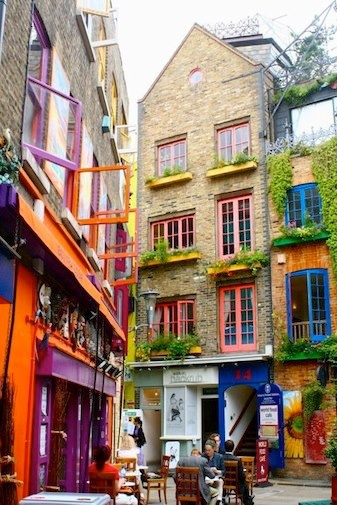 """Neal's Yard - London, UK  We had a fun time and lunch at this """"funky"""" fun spot - down a small alley just off Covent Gardens in London!"""