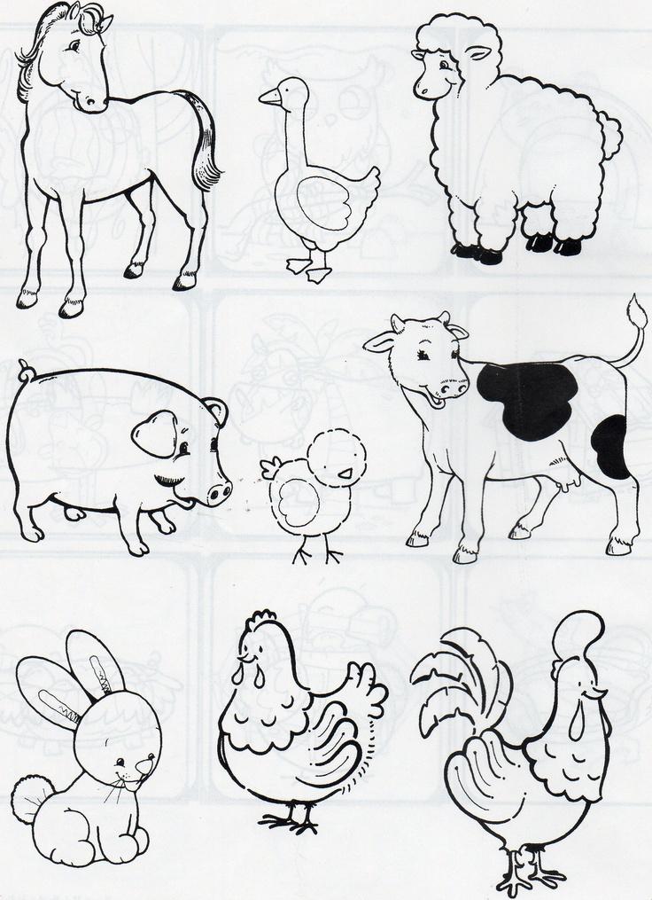 animales de campo y de corral.