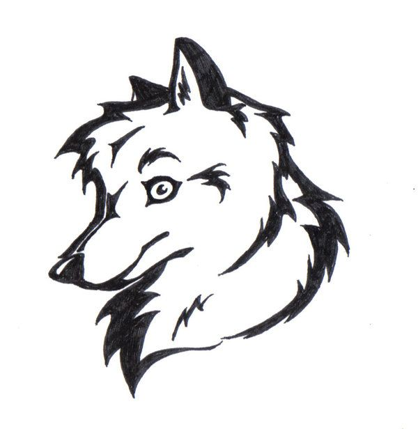 how to draw a tribal wolf head tattoo
