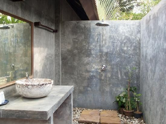 Outdoor showers and bathrooms interesting seems to be a for Bathroom designs sri lanka