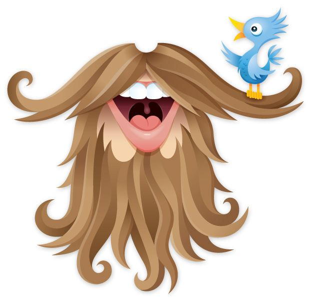 Free twitter beard printable for the photo booth