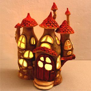 Recycling Some Plastic Bottles Into A Fairy House Lamp   Bored Panda