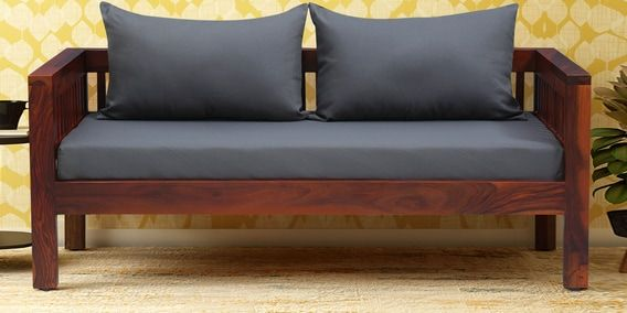 Orting Solid Wood 2 Seater Sofa In Honey Oak Finish By Woodsworth