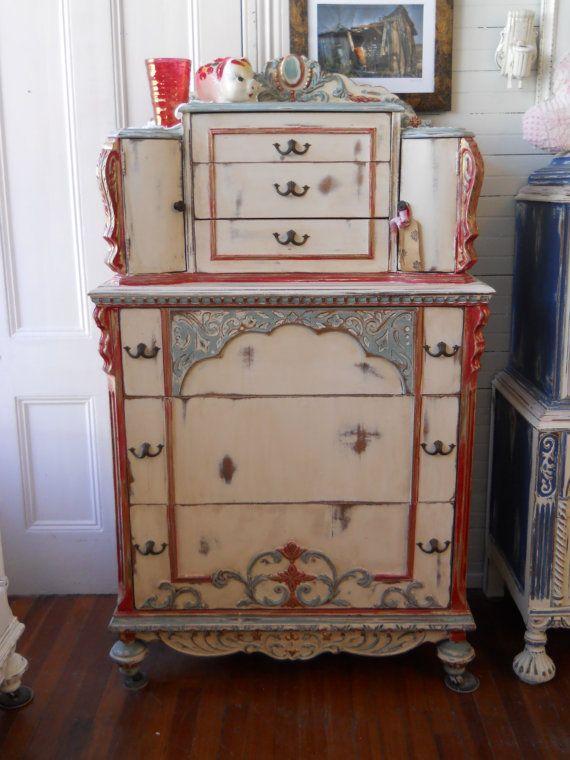 Mejores 248 im genes de muebles en pinterest muebles - Muebles antiguos pintados ...