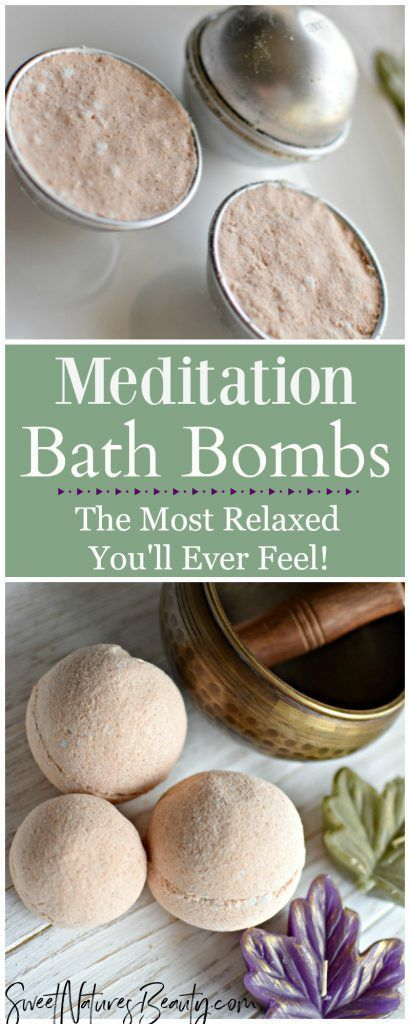 Use this Meditation Bath Bomb Recipe in a nice warm bath and you will be feeling relaxed in no time! With the best essential oil blend for natural skincare this bath bomb recipe helps you tune in to your mind and body. Click through to see the amazing all natural ingredients of this Meditation Bath Bomb Recipe.