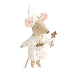 """""""Tooth mouse in the house"""" How #adorable! What a great thing for teething babies. Wooden teether and fluffy mouse."""