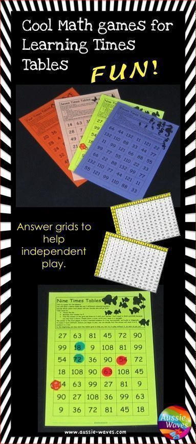 Need to learn times tables? These Math Games are a great way to memorise and learn multiplication tables.