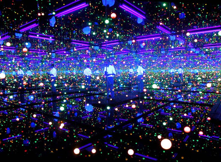 At the Tate Modern: one of Kusama's Infinity Mirror Rooms entitled Filled With the Brilliance of Life. Description from pinterest.com. I searched for this on bing.com/images