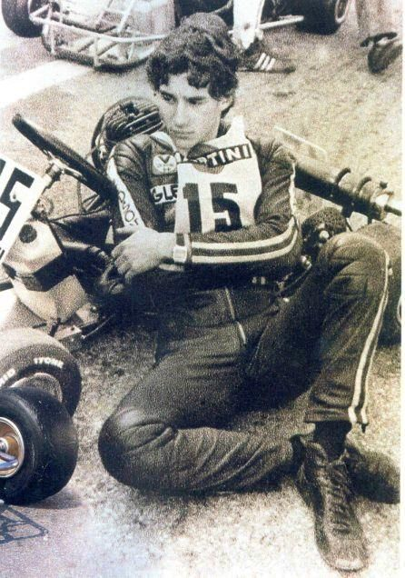 A youthful Ayrton Senna in his karting days.