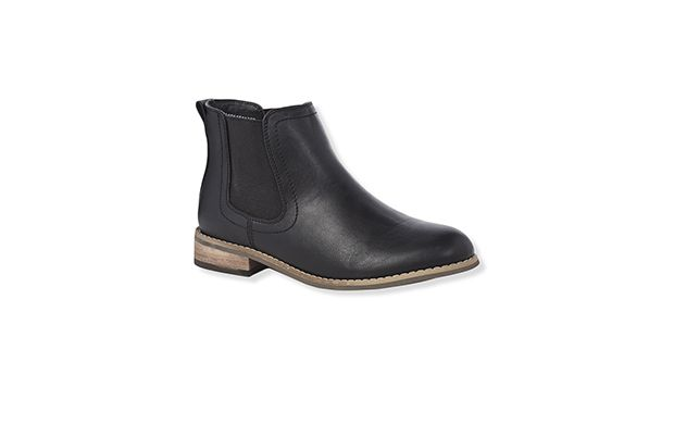 "Chelsea Boot. ""Team these cool Chelsea boots with opaque tights and a relaxed tea dress for off-duty style."""
