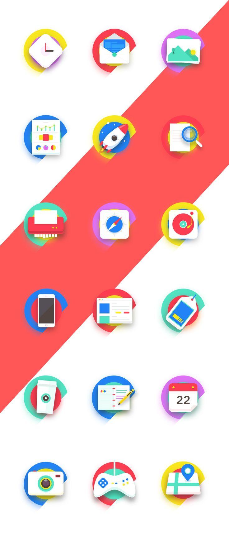 Buatoom / Neon Icons #graphic #design #ui #icons