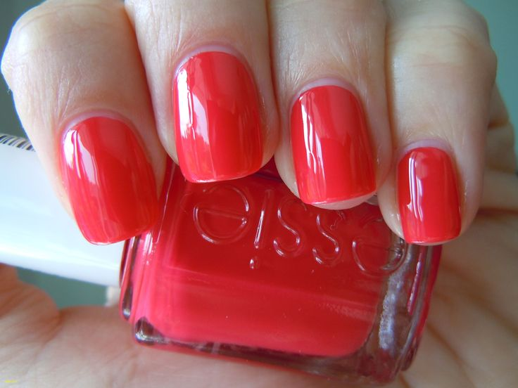 Awesome Hot orange Nail Color