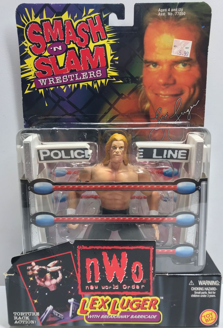 The Angry Spider Has All Of The Toys You Want For Your Collection: TAS038554 - 1999 ...  Check it out here! http://theangryspider.com/products/tas038554-1999-toy-biz-smash-n-slam-wrestlers-lex-luger?utm_campaign=social_autopilot&utm_source=pin&utm_medium=pin