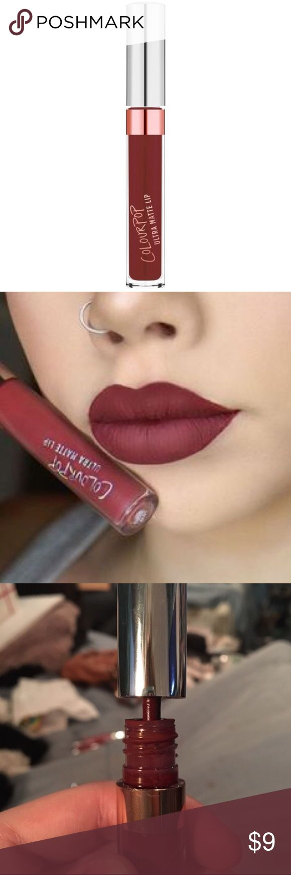 Colourpop   Rooch Ultra Matte Lip A deepened russet wine. Used 2X with a lip brush. No box included. Colourpop Makeup Lipstick