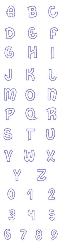 Purvy Applique Font Machine Embroidery Font by FiveStarFonts, $11.99