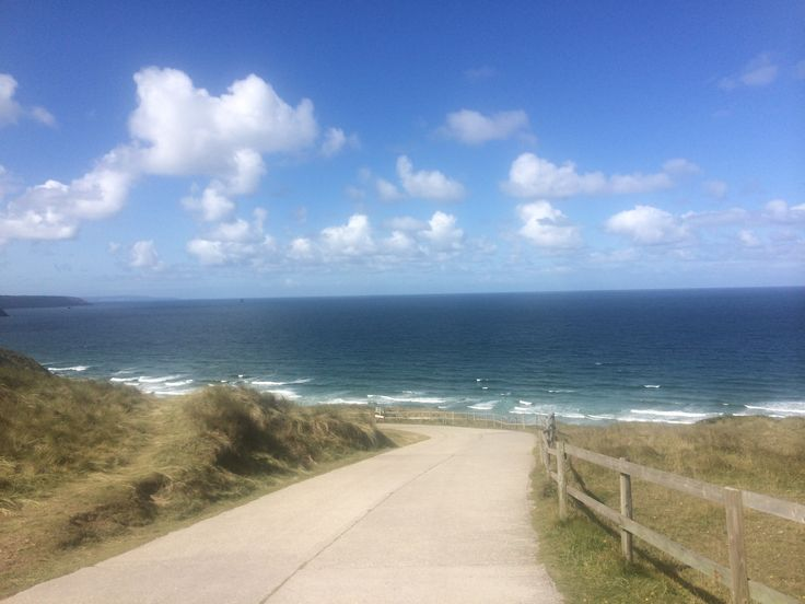 Perranporth low tide