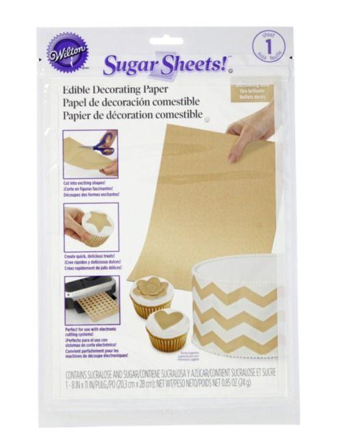 Gold Shimmer Sugar Sheet
